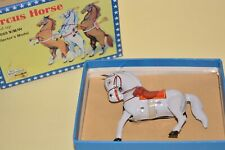 Welby Tin Treasures Tin Plate Wind up Circus Horse 10cm Boxed with key