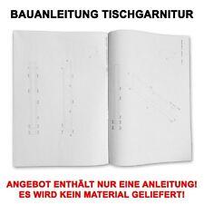 Profi Bauanleitung Sitzmöbel Gartenmöbel Biertisch Campingtisch Tischgarnitur