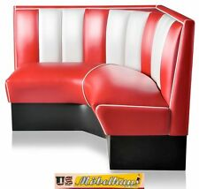 HW-120/120-R American Furniture Diner Bench Corner Seat Diner Retro USA Catering