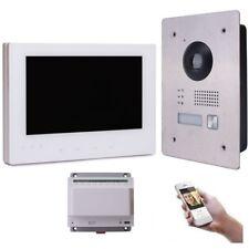 Video Türsprechanlage Gegensprechanlage 7'' Monitor Weiß Kamera 170° HD