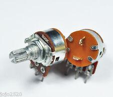 5 pcs 20KB B20K Linear Pot Potentiometer 15mm ON OFF Switch / SW