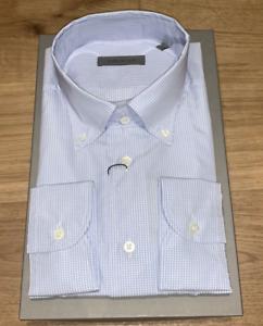 Corneliani Blue Button Up Shirt