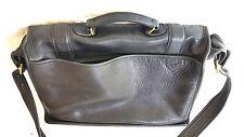 VTG COACH Glove tanned LEATHER BRIEFCASE Messenger Bag Black Patch G6C-5274 USA