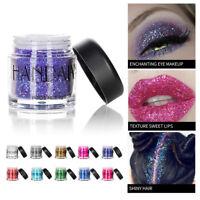 Shimmer Effect Eye Makeup Pigment Powder Diamond Eyeshadow Palette Cosmetic