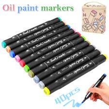 40 colori vernice pennarelli permanenti pneumatici impermeabili auto metallo
