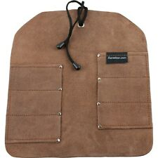 Uj Ramelson 6 Pocket Leather Tool Roll Storage Case Pouch Brown Leather