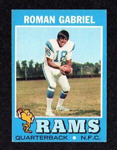 1971 Topps #230 Roman Gabriel Los Angeles Rams QB Football Card EX/MT