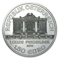 2011 Austrian Philharmonic 1oz .999 Silver Bullion Coin - Austrian Mint
