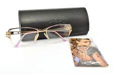 Cazal Glasses Mod. 178 Col. 508 Half-Rim Deluxe Eye Frame Lunettes Gold + Case