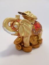 Elephant statue with Moon Frog Purple & Gold 95mm (Post or Local Pickup)
