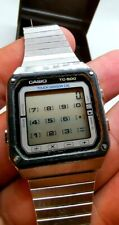 MONTRE WATCH LCD QUARTZ CASIO TC 500 TOUCH SENSOR CALCULATOR JAPAN VINTAGE 1983