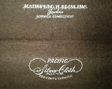 Collectible Vintage Brown Wood Pacific Silver H.Bliss Sterling Silverware Box