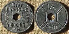 Fr. Indo China  : 1942  1/4 Ct  AU  Some Roughness #25  IR7058