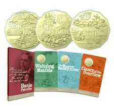 2020 Banjo Patterson 3 x 50c Carded Coin Set UNCIRCULATED in Folder  From RAM #1