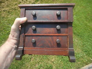 Beautiful 19th Century Grain Painted miniature Chest of Drawers