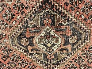 Auth:   ANTIQUE TRIBAL RUG  Migratory Shabby Chic Distressed Wool Cutie 7x10  NR