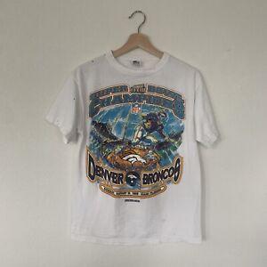 VINTAGE STARTER Denver Broncos Super Bowl 33 Champions T-Shirt Size Large 14-16