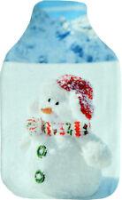 Vagabond Snow Baby Photo Print Deluxe Fleece Hot Water Bottle