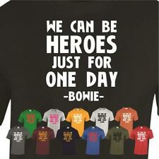 We Can Be Heroes Mens T-Shirt David Bowie Motivation Printed Music Star Tee Gift
