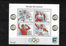 NORWAY MS1157, 1993 WINTER OLYMPICS MNH
