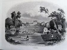 Bi1-13 Gravure 1845 chateaux historiques par Théodore Frère - Sceaux