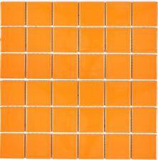 Mosaïque carreau céramique orange brillant cuisine bain 14-0802_f | 10 plaques