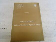 MR.291 MOTEURS ATMOSPHERIQUES ET TURBO RENAULT R21  REF 7711080325