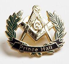 Lot of 5: Masonic Prince Hall Peace Wreath Lapel Pin Golden Finish PHA Masonry
