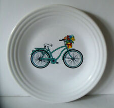 Fiesta SPRING BICYCLE Decal Luncheon plate NEW Turquoise BELK Dept. Store Excl.