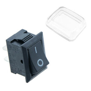 On/Off Rectangle Rocker Switch + Waterproof  Cover Car Dash Boat SPST 12V
