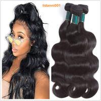 Body Wave 100% Human Hair Extensions 300G/3 Bundles Virgin Weave Brazilian Hair