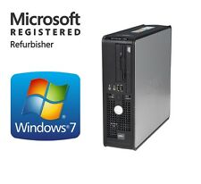 Fast DELL Windows 7 Pro Dual Monitor Desktop Computer PC 8GB 1TB WiFi DVD-RW 64