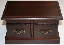 Wooden Jewelry Box Storage Vintage Small Wood Case Sleek EUC