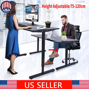 Large Adjustable Height Stand Up Laptop PC Table Lift Computer Desk Home office