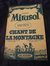 Partition Mirasol Chant de la Montagne Ledru 1957 Music Sheet