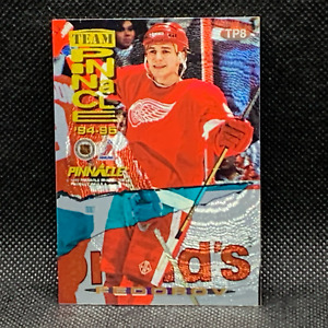 1994-95 Pinnacle Team Dufex Back Eric Lindros Sergei Fedorov TP8 Red Wings