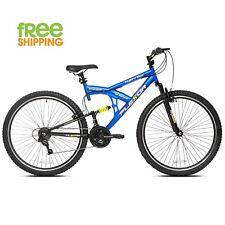 """Kent Mountain Bike Blue 29"""" Men 21 Speed Dual Suspension Sport Bicycle New!"""