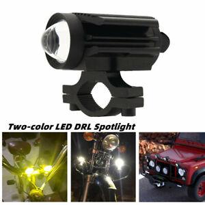 Car Off-road Motorcycle LED DRL Spotlight External U7 Lens Two-color Universal