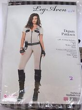 Size L Women's Highway Patrol Police Officer Sexy Costume Cosplay Halloween