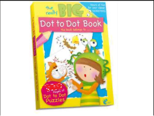 DOT TO DOT BOOK PAGES A4 CHILDREN/KIDS COLOURING NEW