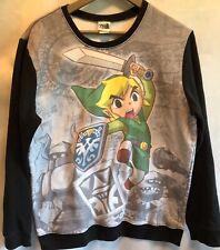 The Legend Of Zelda Spirit Tracks Mens Sweat Shirt Black Gray Ninetindo Crew
