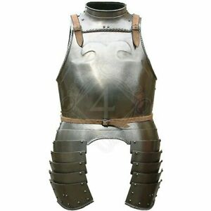 SCA Medieval Larp Breast plate Knight Cuirass With tassets & Gorget Body Armor