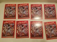 1990 Donruss #269 KIRBY PUCKETT - ERROR no dot after INC - Lot of 8 - HOF Twins