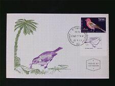 ISRAEL MK 1963 BIRDS GIMPEL VÖGEL MAXIMUMKARTE CARTE MAXIMUM CARD MC CM c5603