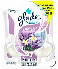 New Glade PlugIns Scented Oil Air Freshener Refill Lavender & Vanilla 2 Refills