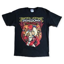 Shinedown 2010 Carnival Of Madness Concert Tour Band 100% Cotton T Shirt Size M