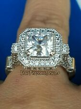 3 Ct Princess Cut Man Made Diamond Engagement Ring 14k white gold 5 6 7