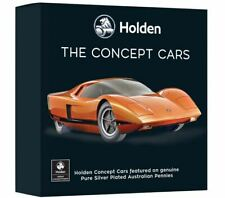 HOLDEN CONCEPT Silver Plated Enamel Penny 9 Coin Collection