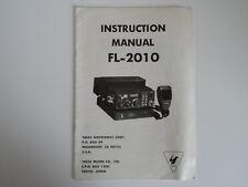 Yaesu FL-2010 (Original Manual De Instrucciones Solamente)... radio _ trader _ Irlanda.