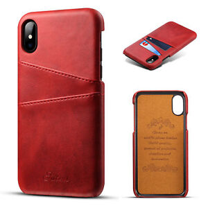 For iPhone 11 PRO XS Max XR X 7 8 PLUS Case Leather Wallet Card Slot Back Cover